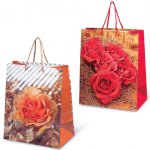 Пакет подарочный Grandgift цветы 26х32х15см, ассорти, 7486