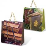 Пакет подарочный Grandgift книги 38х38х16см, ассорти, 7523
