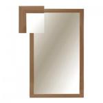 Зеркало настенное Attache 1801 СЕ-1, 1000х600мм, бук