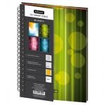 Тетрадь Mariner Be Happy, А4, 120 листов, в клетку, на спирали, картон/ матовая ламинация, зеленый