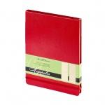 Блокнот Bruno Visconti Megapolis красный, А5, 100 листов, в клетку, искусственная кожа