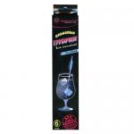 Трубочки для коктейлей Пиромания неоновые голубые, 6шт