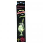 Трубочки для коктейлей Пиромания неоновые зеленые, 6шт