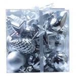 Набор елочных украшений пластиковых Tarrington House, 30 шт, серебро