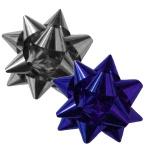 Бант-звезда Academy Style синий с серебром, 2шт