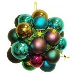 Гроздь шаров 60/70мм, зелено-коричневое с сиреневым, 418645
