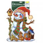 Наклейка на окно Decor Trading Company Limited Снеговик, 40 х 28см, 352701