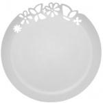 Блюдо одноразовое Buffet с ажурным краем, d=27.3см, 3шт/уп, белый