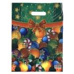 Пакет подарочный Новогодний, Шары, 30х40см