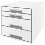 Бокс для бумаг Leitz Wow 287x270x363мм, 4 ящика, бело-серый, 52131001