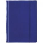 Картонная папка на резинке Esselte синяя, А4, до 400 листов, 13434