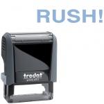 Штамп стандартных слов Trodat Printy RUSH!, 38х14мм, серый, 4911