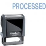 Штамп стандартных слов Trodat Printy PROCESSED, 38х14мм, серый, 4911