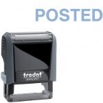 Штамп стандартных слов Trodat Printy POSTED, 38х14мм, серый, 4911