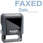 Штамп стандартных слов Trodat Printy FAXED Date, 38х14мм, серый, 4911