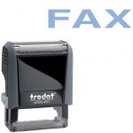 Штамп стандартных слов Trodat Printy FAX, 38х14мм, серый, 4911