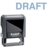 Штамп стандартных слов Trodat Printy DRAFT, 38х14мм, серый, 4911