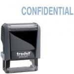 Штамп стандартных слов Trodat Printy CONFIDENTIAL, 38х14мм, серый, 4911