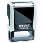 Оснастка для прямоугольной печати Trodat Printy 26х9мм, белая-черная, 4910