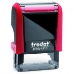 Оснастка для прямоугольной печати Trodat Printy 26х9мм, красная, 4910