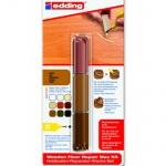 Мелок для мебели Edding 8902 дуб, 3 цвета, для маскировки трещин на деревянных поверхностях