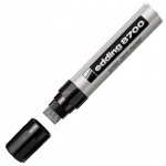 Маркер промышленный лаковый Edding 8700 серебристый, 18мм, скошенный наконечник, универсальный, алюм