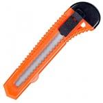 Нож канцелярский 18мм, оранжевый