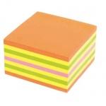 Блок для записей с клейким краем Kores 4 цвета, неон, 75x75мм, 450 листов