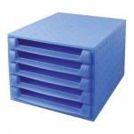 Бокс для бумаг Exacompta А4, 387х284х218мм, 5 секций, синий