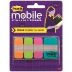 Клейкие закладки пластиковые Post-It Study 4 цвета, 25х38мм, 3х30 листов, 1х10 листов, 686-OLTA-OTG