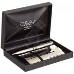 Набор пишущих принадлежностей Verdie Ve-30ВК шариковая ручка, стальной корпус, визитница, в футляре