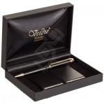 Набор пишущих принадлежностей Verdie Ve-6bg шариковая ручка, черный корпус, визитница, в футляре