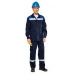 Костюм рабочий мужской Темп, сине-васильковый, брючный, с СОП, (р.44-46) 182-188