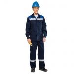 Костюм рабочий мужской Темп, сине-васильковый, брючный, с СОП, (р.60-62) 182-188