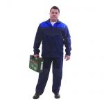 Костюм рабочий мужской Производственник (р.44-46) 182-188, сине-васильковый, брючный, с СОП