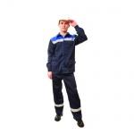 Костюм рабочий мужской Темп, сине-васильковый, с СОП, (р.48-50) 182-188