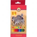 Набор цветных карандашей Koh-I-Noor Animals 24 цвета, 3354