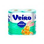 Туалетная бумага Veiro морской бриз, голубая, 2 слоя, 4 рулона, 140 листов, 17.5м