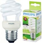 Лампа энергосберегающая Philips CLL Tornado mini T2 12(60)Вт, Е14, теплый белый