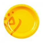 Тарелка одноразовая Huhtamaki Whizz d=18см, желтая, 50шт/уп