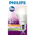 Лампа светодиодная Philips LED Bulb 5Вт, E27, теплый белый