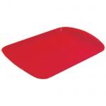 Поднос прямоугольный красный, 47х33 см