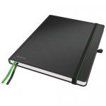 Блокнот Leitz Complete iPad черный, А4, 80 листов, в клетку, на сшивке, с резинкой, твердая обложка,