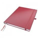 Блокнот Leitz Complete красный, А5, 80 листов, в клетку, на сшивке, с резинкой, твердая обложка, 447