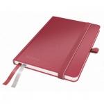 Блокнот Leitz Complete красный, А6, 80 листов, в клетку, на сшивке, с резинкой, твердый переплет