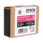Картридж струйный Epson C13 T580A00, пурпурный