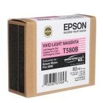 Картридж струйный Epson C13 T580B00, светло-пурпурный