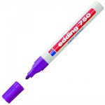 Маркер промышленный перманентный Edding 750, 2-4мм, универсальный, алюминиевый корпус, фиолетовый