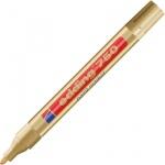 Маркер промышленный перманентный Edding 750, 2-4мм, универсальный, алюминиевый корпус, золотой