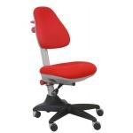 Кресло детское Бюрократ KD-2 ткань, красная, крестовина пластик, красная